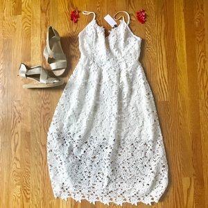 ASTR crochet midi dress. New with tags!